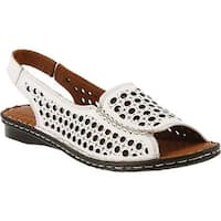 Spring Step Women's Jordana Open Toe Slingback White Leather