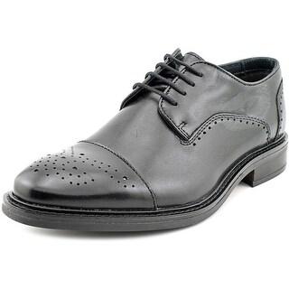 Alfani Paul Men  Cap Toe Leather Black Oxford