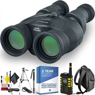 Canon 12x36 IS III Image Stabilized Binocular + Handheld GPS + Outdoor Hiking Safety Kit + 2 Year Accidental Warranty