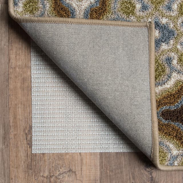 """Sure Hold White PVC-coated Knit Polyester Rug Pad - Off-White - 5'5"""" x 7'10"""""""