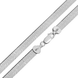 Bling Jewelry 925 Sterling Silver 080 Flexible Herringbone Necklace 8mm
