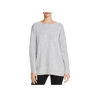 French Connection Womens Pullover Sweater Wool Scoop Back
