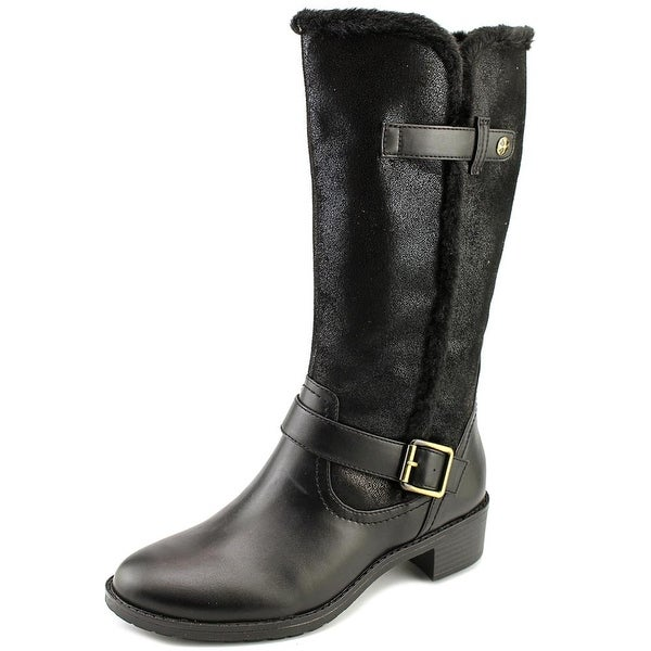 Naturalizer Maddox WW Round Toe Canvas Mid Calf Boot