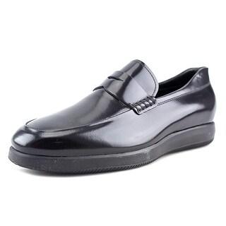Hogan h209 Dress X Mocassino Cucito Rigir Round Toe Leather Loafer