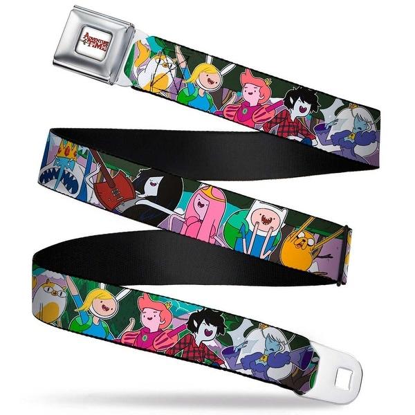 Adventure Time Logo White Full Color Adventure Time 5 Fan Fiction Seatbelt Belt