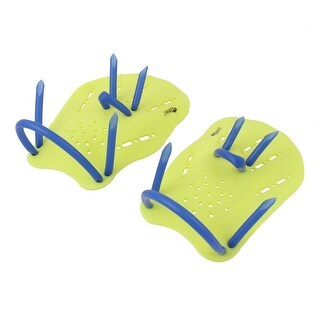 Swim Gear Training Silicone Webbed Hand Gloves Paddles Swimming Supplies Pair