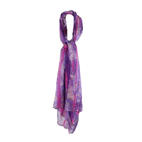 Echo Orchid Pink Purple Multi Distressed Stripes Wrap OS