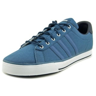 Adidas Daily Men Round Toe Synthetic Blue Sneakers