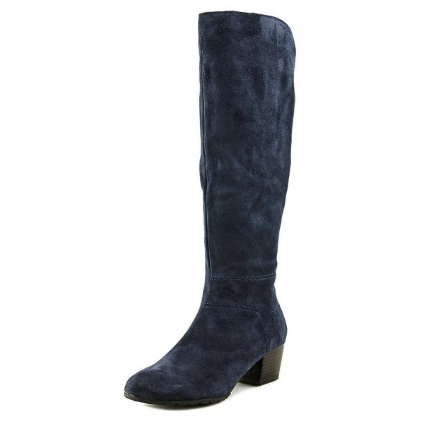 Kenneth Cole Reaction Pil-osophy Women Round Toe Suede Blue Mid Calf Boot