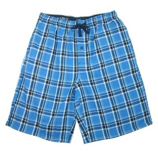 Hanes Men's Cotton Madras Drawstring Sleep Pajama Shorts - SMALL