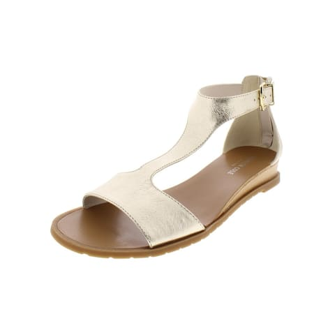 Kenneth Cole New York Womens 7 Judd Wedges Metallic Leather