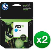 HP 902XL High Yield Cyan Original Ink Cartridge (T6M02AN) (2-Pack)