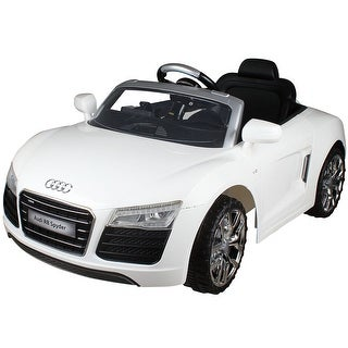 Costway White Audi Kids 12V Electric Ride On Car With MP3 RC Remote Control Car