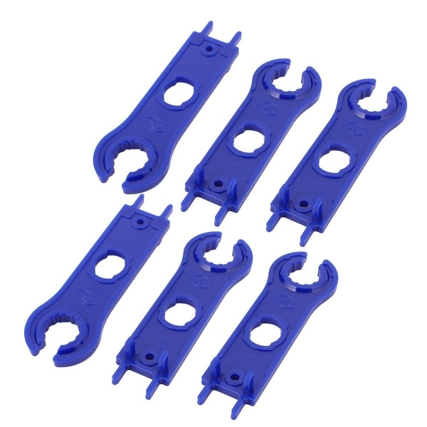 6pcs MC4 Solar Panel Connector Disconnecting Tool Spanners Wrench Blue