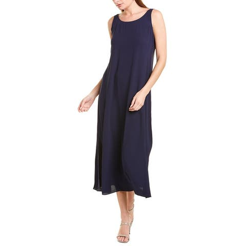 Eileen Fisher Scoop Silk Maxi Dress