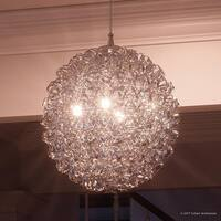 "Luxury Modern Pendant, 16.25""H x 15.75""W, with Eclectic Style, Polished Chrome Finish"