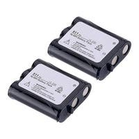 Replacement For Panasonic HHR-P402A Cordless Phone Battery (850mAh, 3.6v, NiCD) - 2 Pack