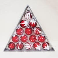 """180 Peppermint Twist Red and White Glass Ball Christmas Ornaments 1.5"""" (40mm)"""