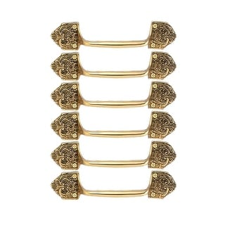 6 Ornate Cabinet Pull Drawer Handle Heavy Solid Brass  | Renovator's Supply