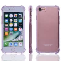 TPU Card Slots Sleeve Phone Case Crystal Back Cover Light Purple for iPhone 7