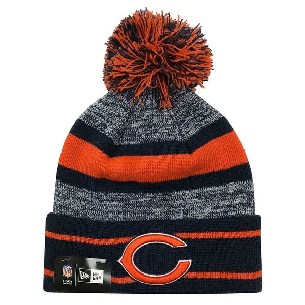 eda674c6b39 Shop New Era 2019 NFL Chicago Bears Cuff Pom Knit Hat Beanie Stocking Winter  Skull - Free Shipping On Orders Over  45 - Overstock - 27994368