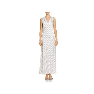 Theory Womens Maxi Dress Crushed Satin Sheer
