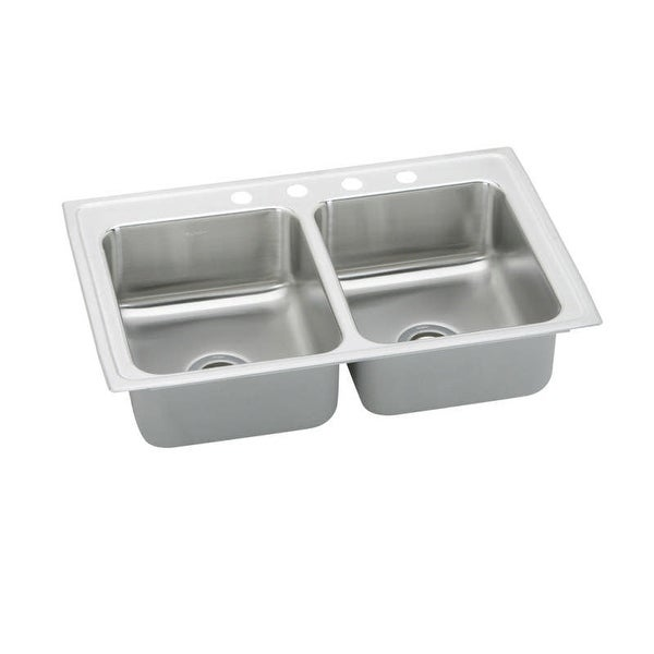 "Elkay PSR3321 Pacemaker 33"" Double Basin Drop In Stainless Steel Kitchen Sink"