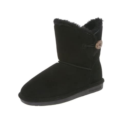 Bearpaw Casual Boots Womens Rosie Toggle Cow Suede Sheepskin