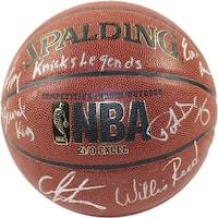 Bernard KingPatrick EwingCarmelo AnthonyWillis ReedWalt FrazierEarl Monroe IO NBA Brown Basketball