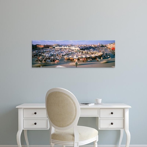 Easy Art Prints Panoramic Images's 'High angle view of a city, Marrakech, Morocco' Premium Canvas Art