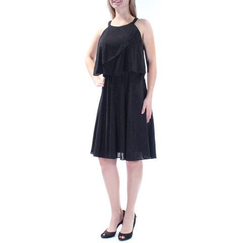 MSK Womens Black Sleeveless Knee Length Party Dress Size 6