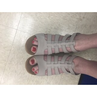 Women's Rockport Briah Gladiator Sandal New Taupe Nubuck