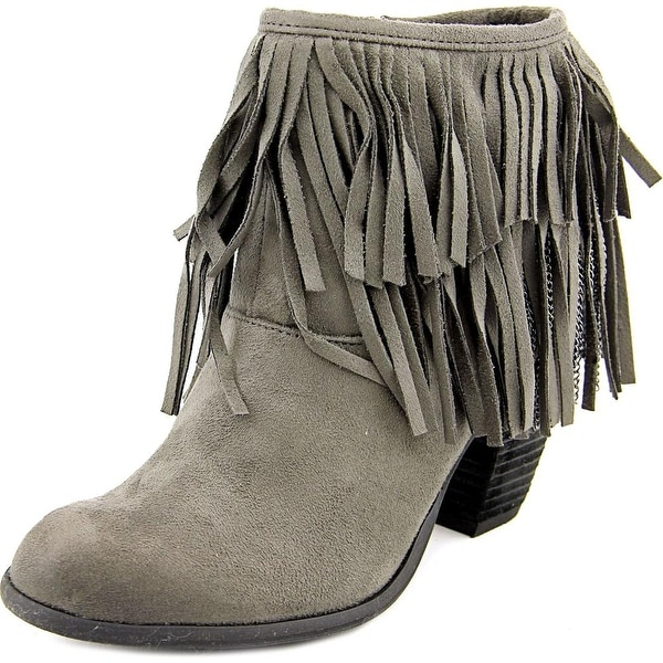 Not Rated Auriga Women Round Toe Canvas Gray Ankle Boot