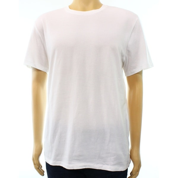 cb2247b50e50 Shop Alfani Bright White Mens XL Slim-Fit Stretch Crewneck Tee T-Shirt - On  Sale - Free Shipping On Orders Over $45 - Overstock - 27970652