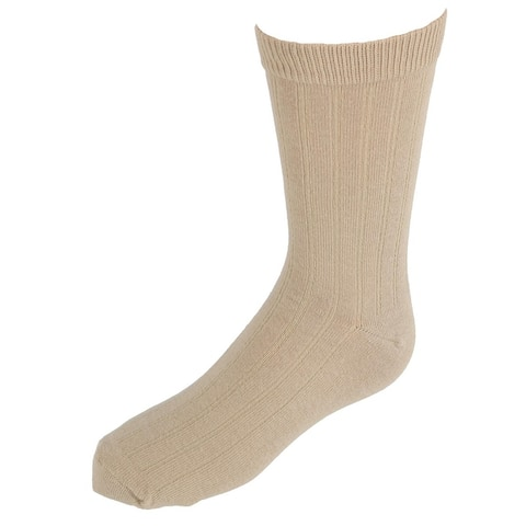 Jefferies Socks Kids' Cotton Ribbed Uniform Crew Socks