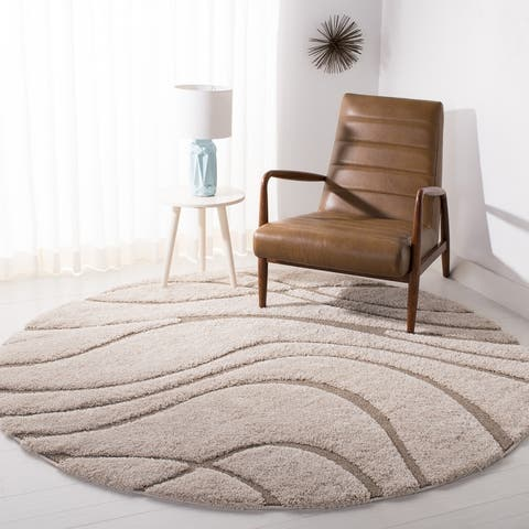 SAFAVIEH Florida Shag Sigtraud Abstract Waves 1.2-inch Thick Rug