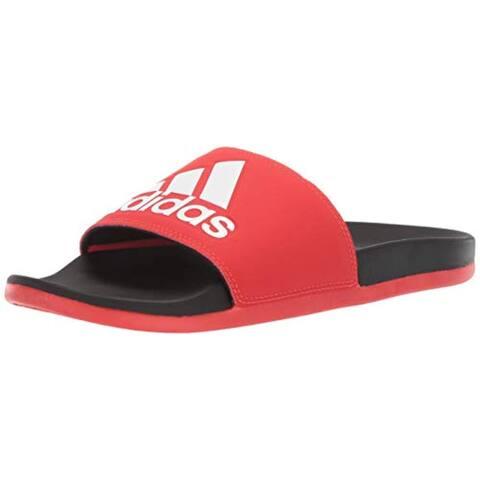 adidas Men's Adilette Comfort, Active red/White/Black 8 M US