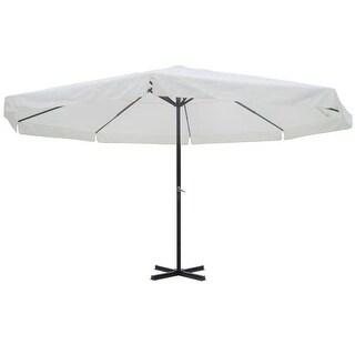 vidaXL 16' Parasol White Aluminum