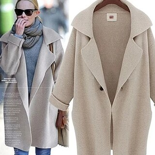 Winter Stylish Women's Knitted Cardigan Sweater Coat