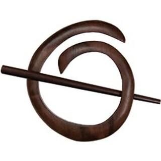 Tiger Ebony - Spiral Shawl Pin