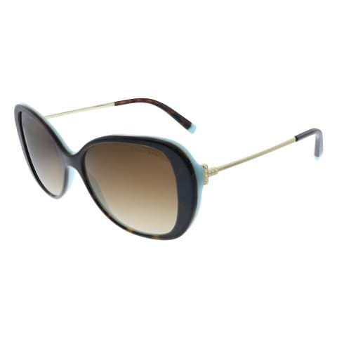 Tiffany & Co. TF 4156 81343B Womens Havana on Blue Frame Brown Gradient Lens Sunglasses