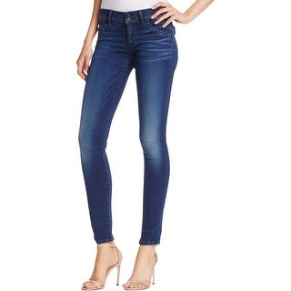 Hudson Womens Collin Skinny Jeans Flap Pocket Denim