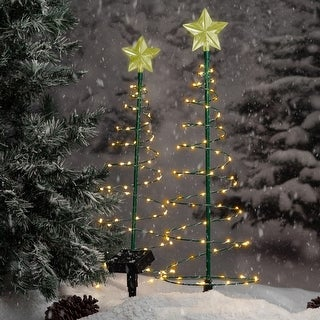 Solar Metal LED Christmas Tree Decoration Light - 2 Color Options