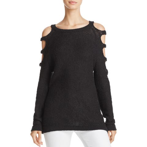 Banjara Women's Cold Shoulder Cut Out Knit Pullover Sweater