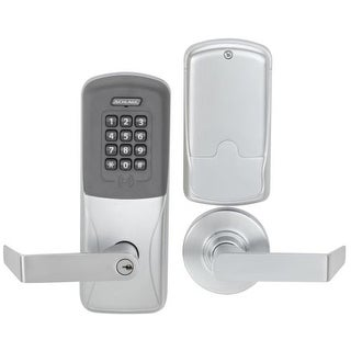 Schlage CO-200-MS-70-PRK-RHO CO-Series Commercial Electronic Mortise Lock with Keypad / Proximity and Rhodes Lever