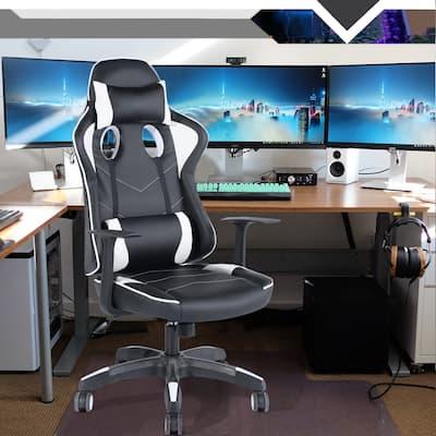 Porch & Den Rylee Ergonomic High-back Racing Swivel Gaming Chair