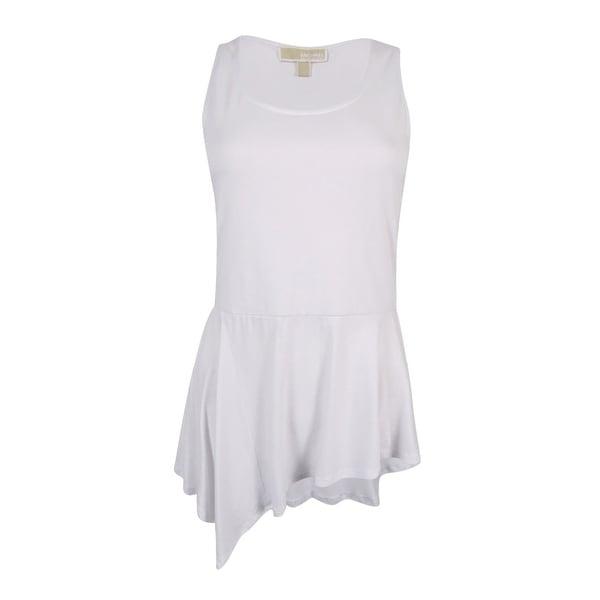 9d1c21f6c7c8a5 Shop MICHAEL Michael Kors Women s Sleeveless Asymmetrical-Hem Top (S ...
