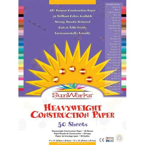 "Pacon - SunWorks Construction Paper - 9"" x 12"" - Blue"