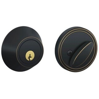 Schlage JD60 Single Cylinder Keyed Entry Deadbolt from the JD-Series (Formerly Dexter)