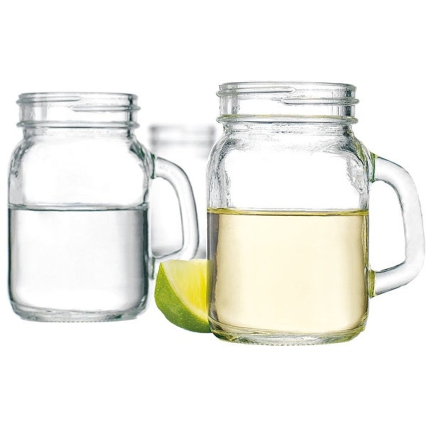 Palais Mason Jar Shot Glasses - Holds 5 Oz - Set of 6 (Clear)
